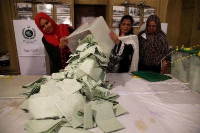 Pakistani PM's party wins less seats than expected in vote