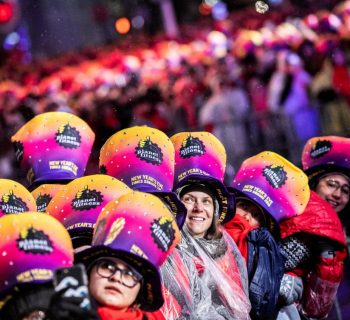 Thousands brave rain in New York's Times Square to welcome 2019