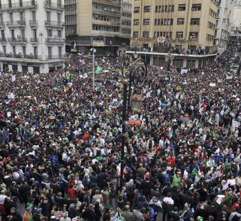 Thousands of Algerian protesters gather in central Algiers: witnesses