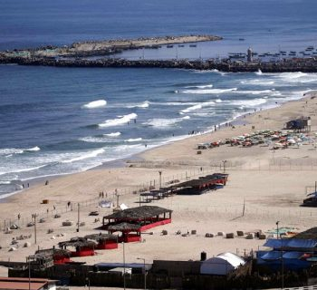 For a few Gazans, a trip to a chalet offers an alternative to the heavily polluted seaside