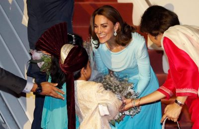 Britain's William and Kate begin 'complex' tour of Pakistan